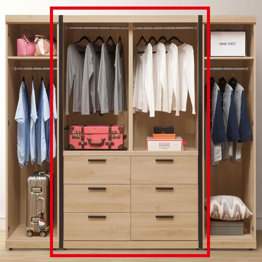 【121cm推門衣櫃-A066-2】木心板 推門滑門開門 衣服收納 免組裝 【金滿屋】
