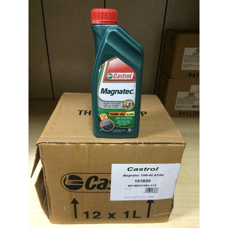 【Castrol 嘉實多】Magnatec、10W40、全合成機油、1公升/罐、12罐/箱【引擎系統】-滿箱區