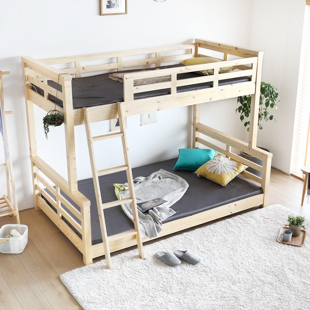 H&D 東稻家居︱艾琳系列日式清新雙層上下舖床架/雙層床/單人床【YSB-005】
