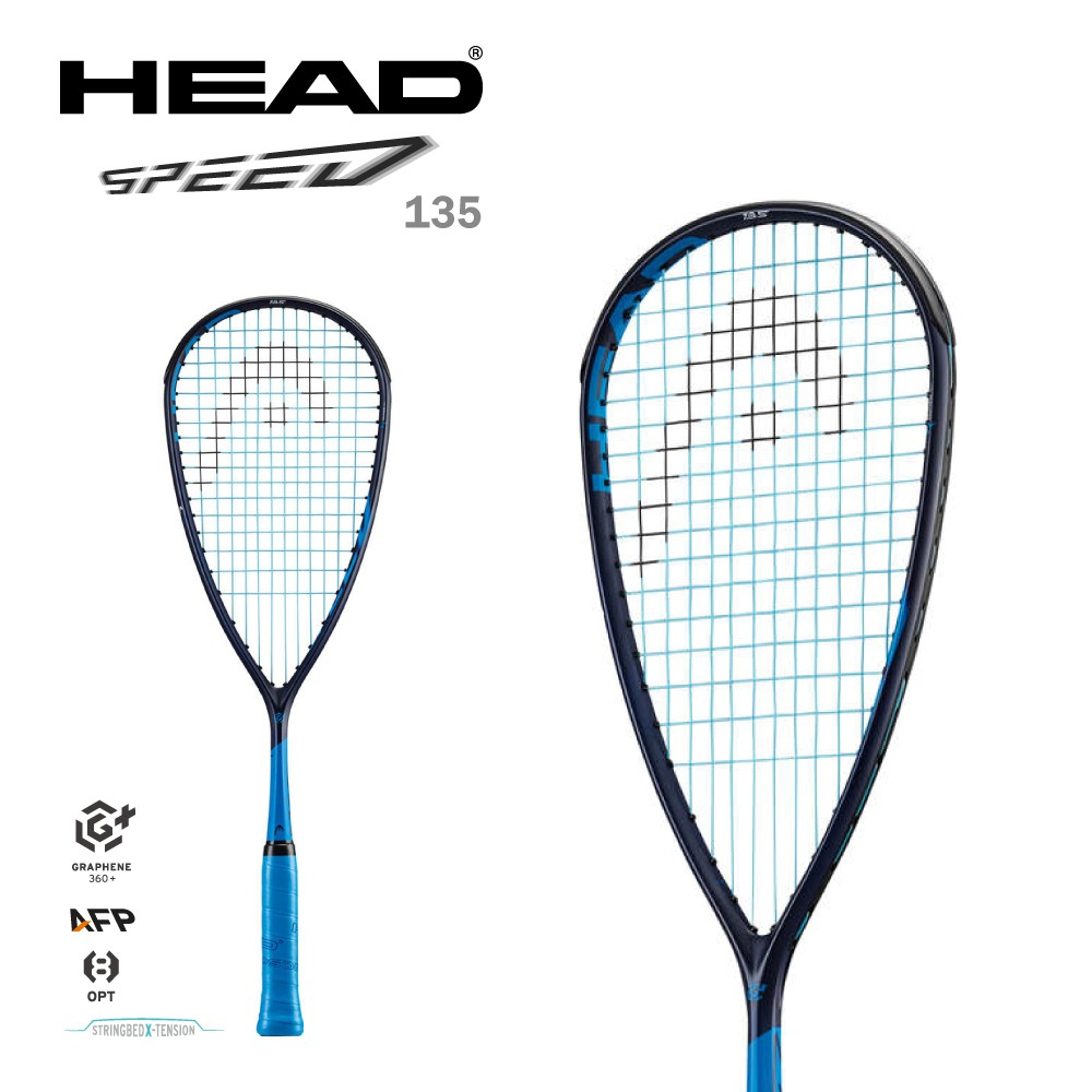 HEAD SPEED 135 壁球拍 壁拍 211021 藍 GRAPHENE360+