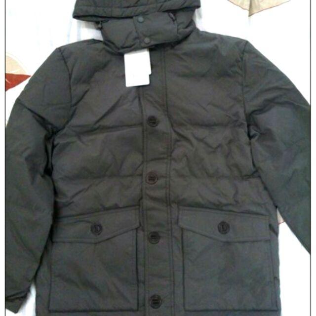 🌟搬家出清🌟NET 褐色墨綠羽絨外套/連帽保暖羽絨外套/M號/全新比輕羽絨保暖/茶褐色