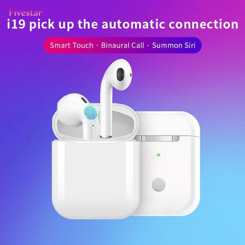 i19 tws運動耳機觸摸控制立體聲高保真雙耳通話耳機