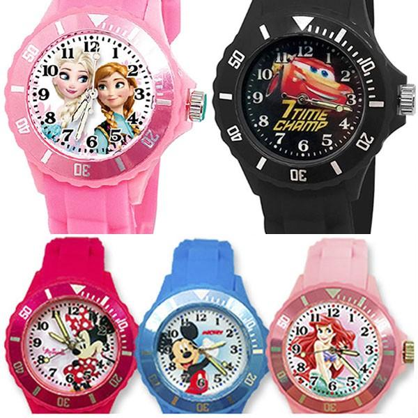 【Disney】迪士尼系列 運動彩帶手錶(中款/正版授權)