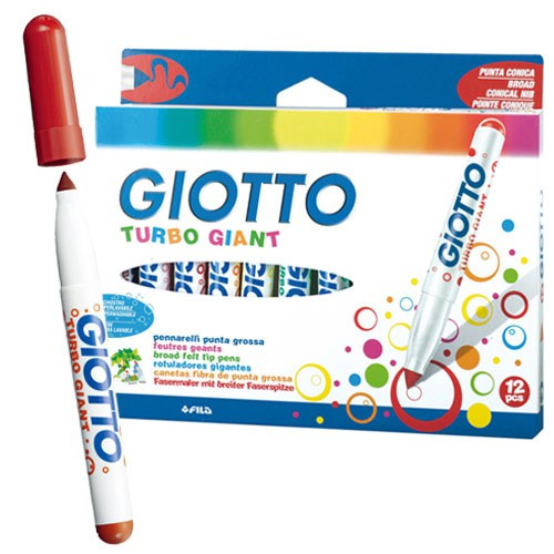義大利 GIOTTO 超好洗粗細雙效彩色筆(12色)