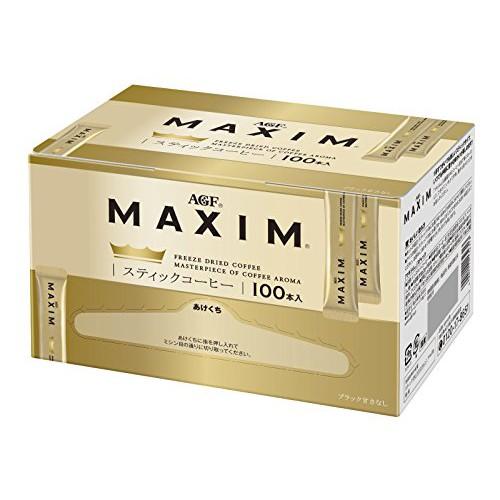 日本原裝 AGF MAXIM FREEZE DRIED 黑咖啡100入 嚴選濃郁金爵 隨身包【水貨碼頭】