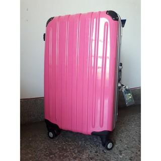【台灣製】1881 27吋 鋁框硬殼行李箱 桃紅 粉紅 旅行箱 美國海關鎖 360旋轉飛機輪 臺中市