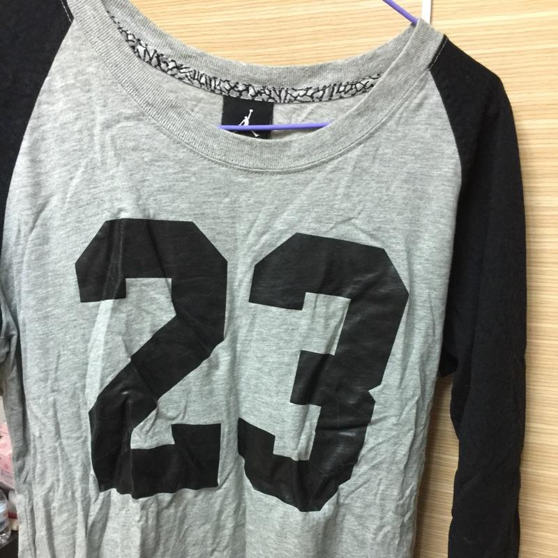 二手 Nike air Jordan 喬丹 七分袖 女 上衣