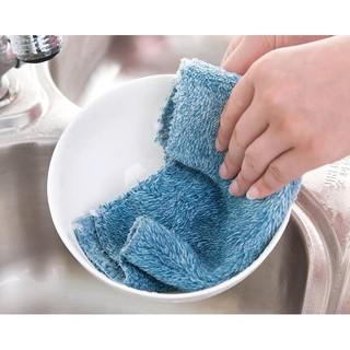 不挑款第二代不沾油毛巾洗碗布 25X25CM纖維抹布 超柔軟洗碗巾不沾油抹布 炫彩洗碗布 植物纖維百潔布 【B】 臺南市