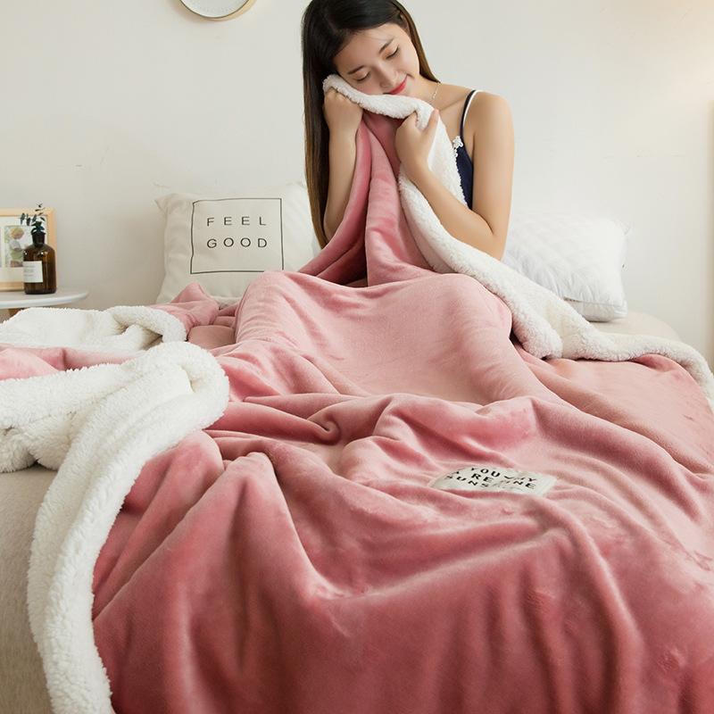 雙層加厚羊羔絨毛毯 珊瑚絨毯子 雙人單人辦公室午睡毯法蘭絨小毛毯 暖毯 寶寶毯 寵物毯 沙發毛毯
