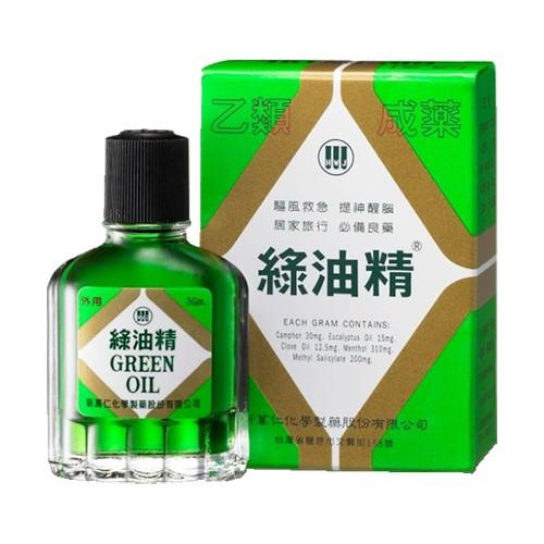 綠油精 3g【躍獅連鎖藥局】