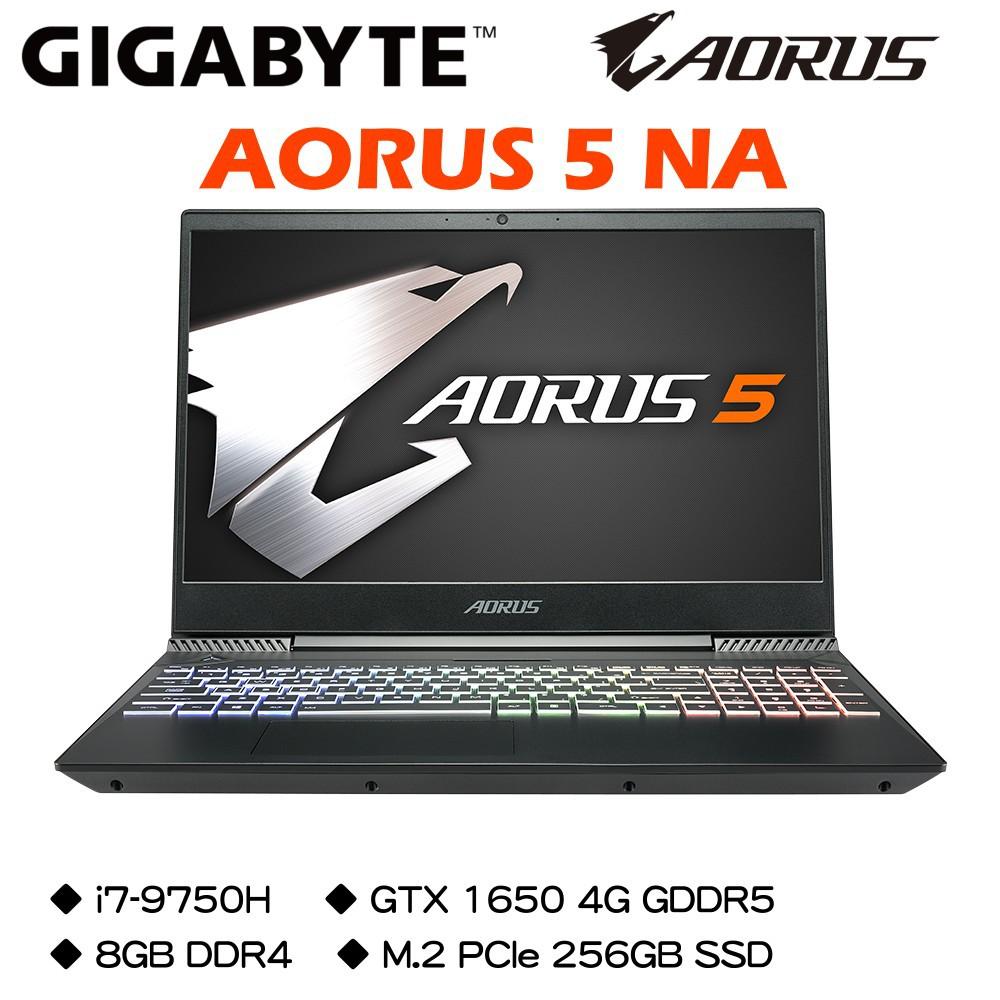 技嘉 AORUS 5 NA i7-9750H/GTX1650 4G/8G DDR4/M.2 256G 電競筆電