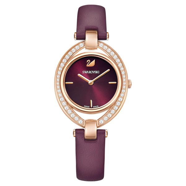 Swarovski 施華洛世奇 Stella 嫵媚流線時尚腕錶/5376839 玫瑰紅 29*35mm