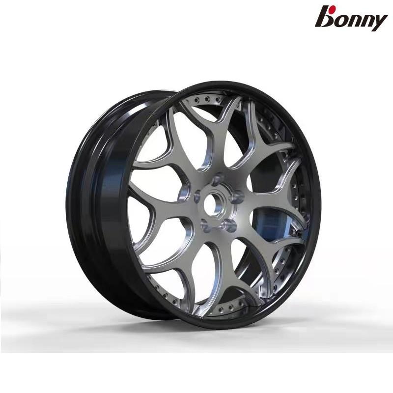 【Bonny】波力碳鋁二合一輪圈 黑色/銀色 19吋/20吋(8.5J~10.5J)單顆-TL2017