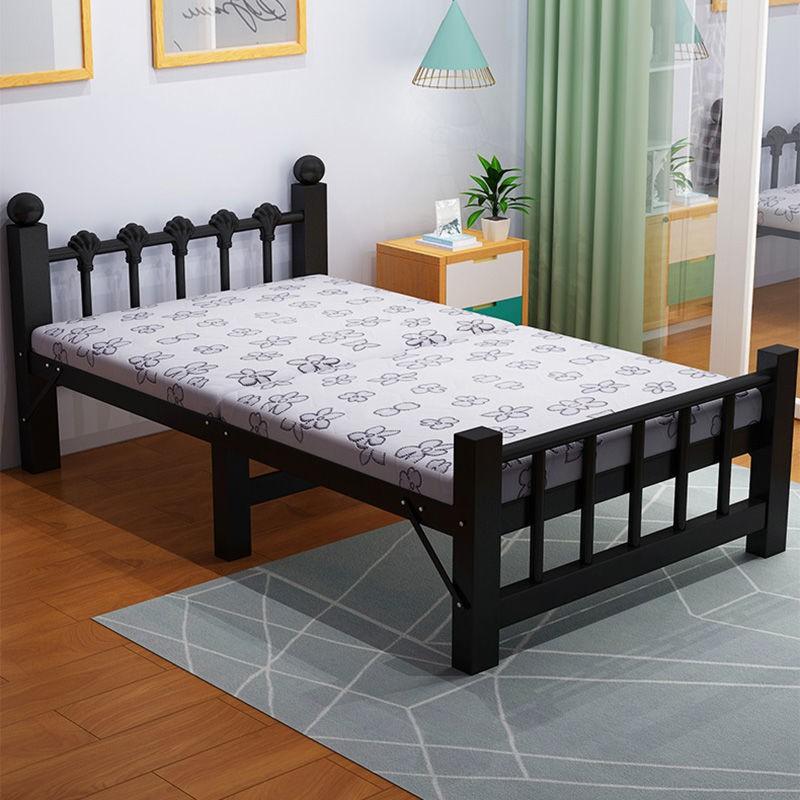 *熱賣*折疊床家用單人床兒童床簡易便攜午休陪護床成人出租屋雙人木板床