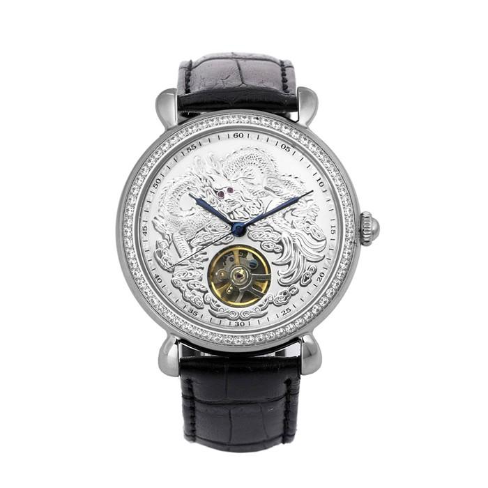 🐻被被熊🐻Manlike 曼莉萊克 龍行天下 經典紅寶 晶鑽 機械表 機械錶 腕錶 不銹鋼 真皮錶帶 手錶 八心八箭 銀