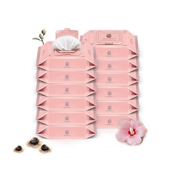 韓國 Enblanc 銀離子輕柔純水有蓋攜帶裝濕紙巾-木槿花萃取物20抽12入|箱購【麗兒采家】