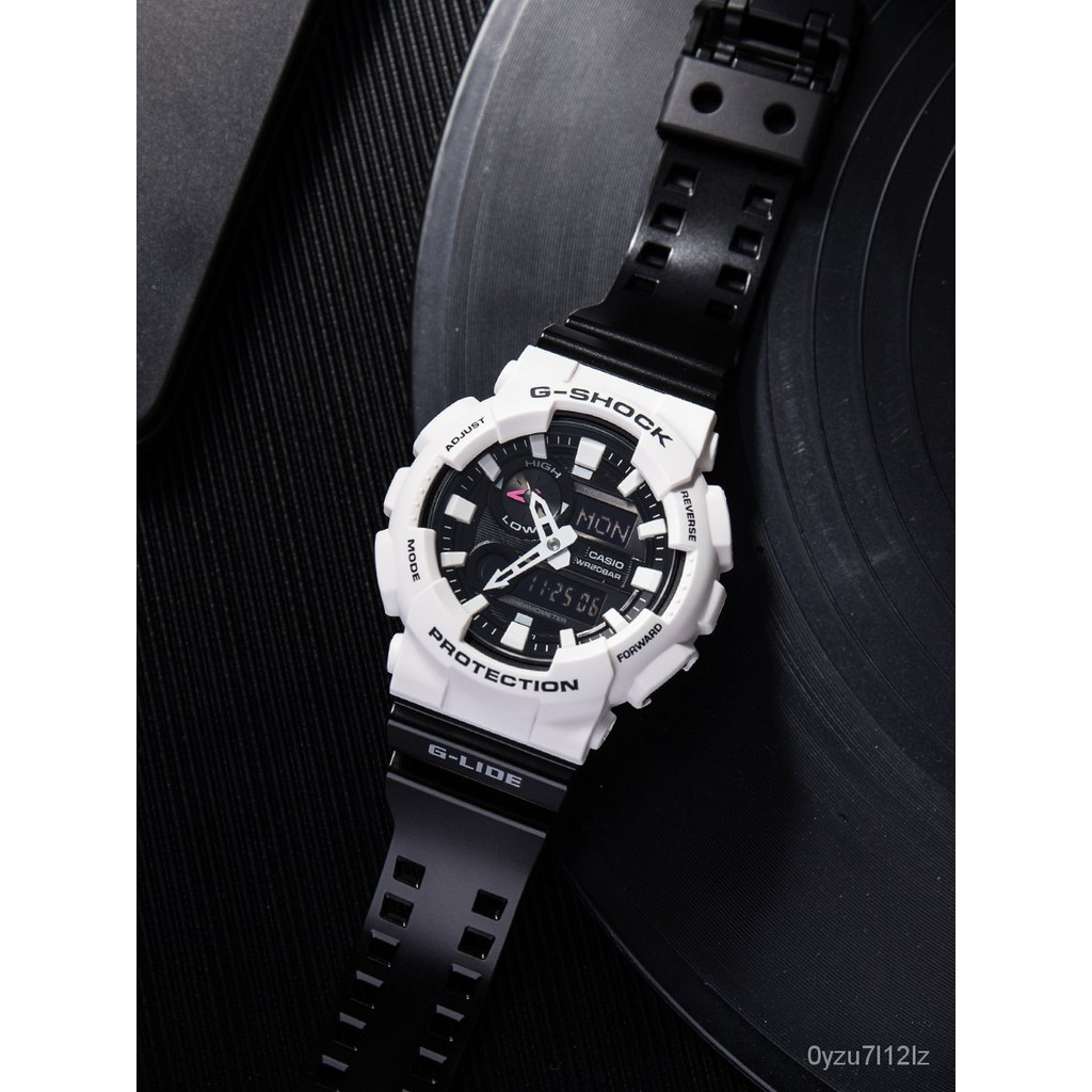 卡西歐G-SHOCK黑白熊貓潮汐溫度運動手錶GAX-100B-7A/1A 100A-7A ojr8