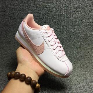 W NIKE CLASSIC CORTEZ LEATHER LUX 經典阿甘鞋 粉色 皮面女生慢跑鞋861660-600
