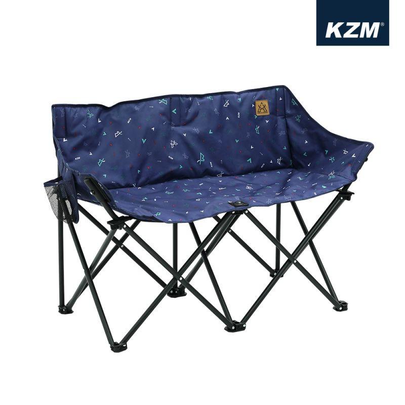 【KAZMI KZM】印花月亮雙人折疊椅-早點名露營生活館