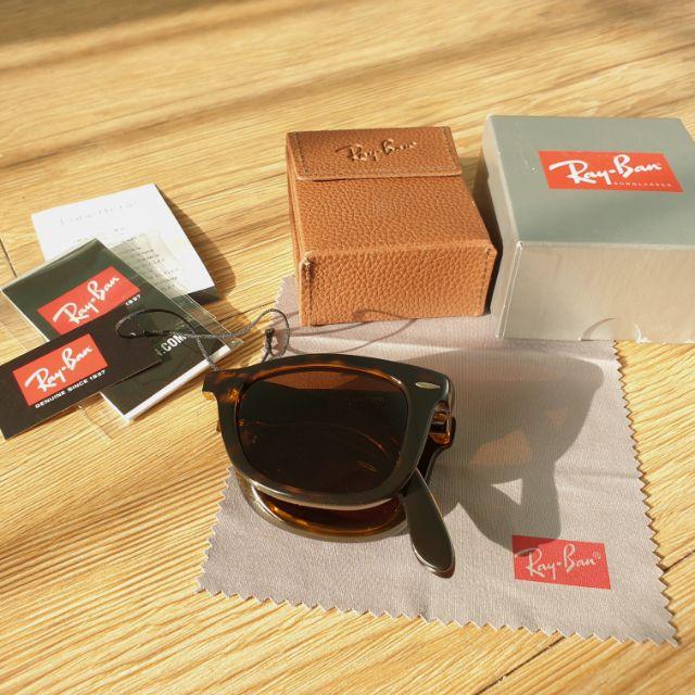 《郵局免運》RayBan 摺疊 墨鏡/太陽眼鏡 RB4105 710
