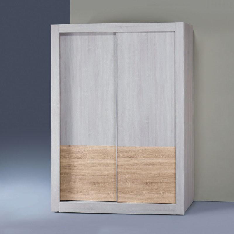 【CA08-47】冰島雙色白天鵝漂流木4×7尺拉門衣櫥