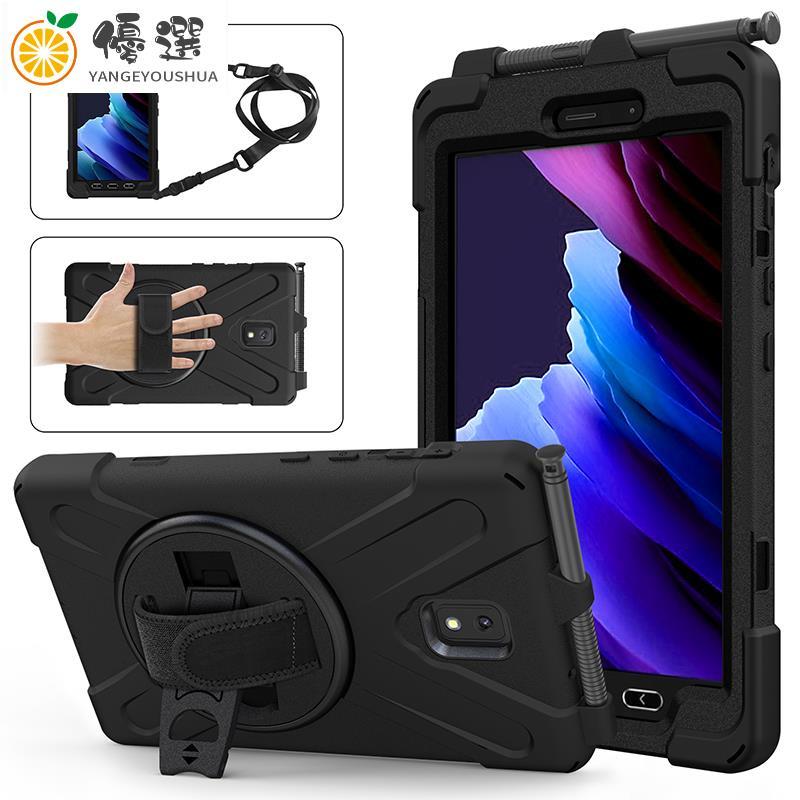 【熱賣現貨】旋轉支架保護殼適用於三星Galaxy Tab Active 3 SM-T575 T570 T57【嚴格優選】