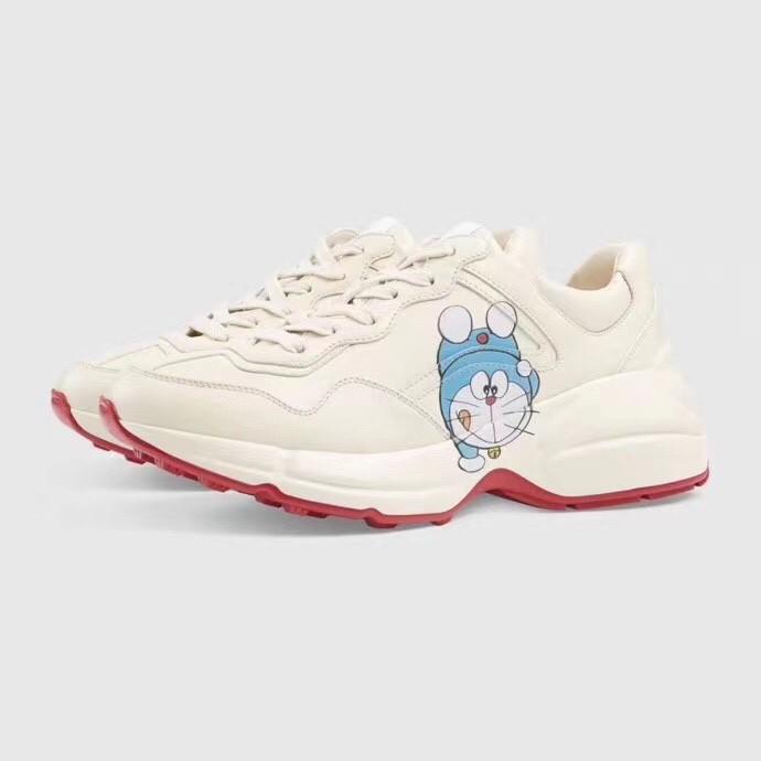 新款 老爹鞋 Gucci 叮噹貓 小白鞋 增高鞋 情侶款 古馳鞋 頂級代購公司貨