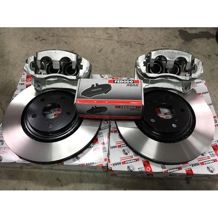 【優質輪胎】全新雙活塞套件組+328MM碟盤+GG級來令片(CAMRY PREVIA 原廠17吋圈可直上)三重區