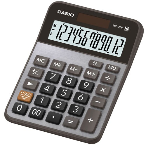 【CASIO】MX-120B 12位數 大型顯示幕 商用標準型 計算機正版宏崑公司貨