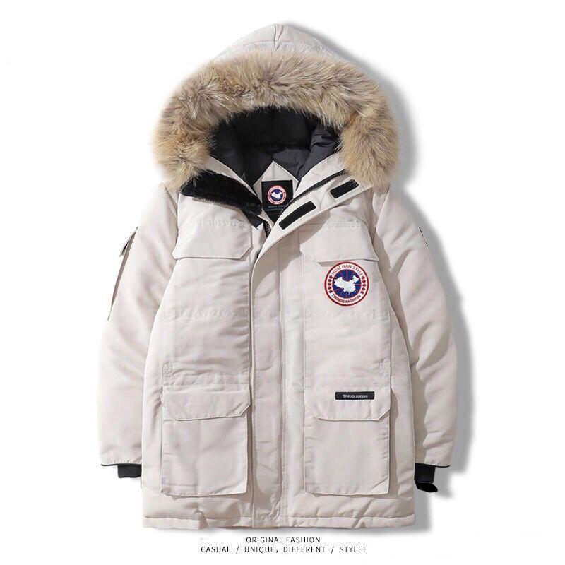 冬季短款羽絨服男女情侶工裝加拿大風潮流外套明星同款保暖加厚鵝 女生衣著 外套 羽絨外套 棉衣 韓版外套 長袖外套 時尚