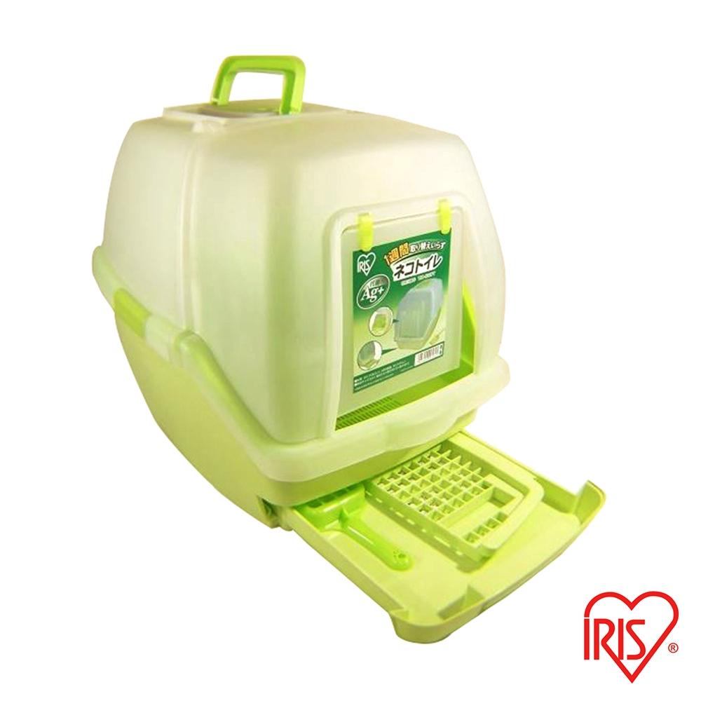 IRIS 一週間大玉貓便盆 TIO-530FT-1 綠色/ 橙色 (H092A31-1)