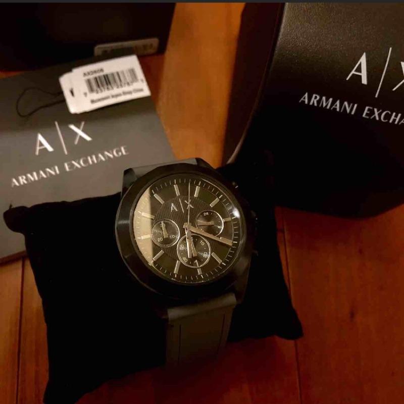 Armani exchange 三眼手錶 a|x