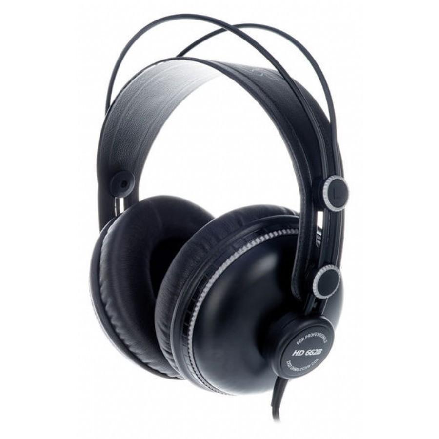 【全館折300】送原廠袋轉接頭 Superlux HD662B 監聽耳機 耳罩式耳機 封閉式專業監聽級耳機 舒伯樂 黑