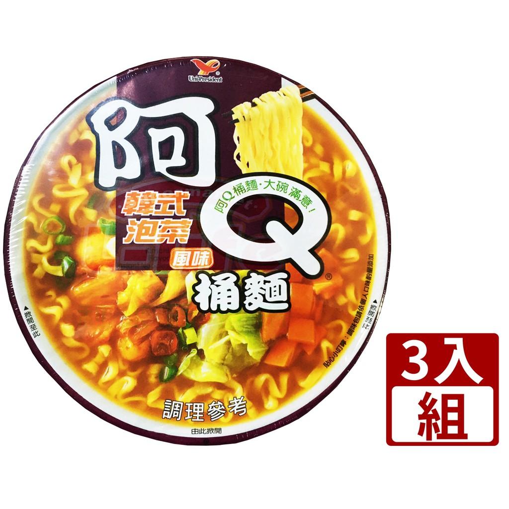 【利來福】阿Q桶麵.韓式泡菜風味102g (3桶/組)