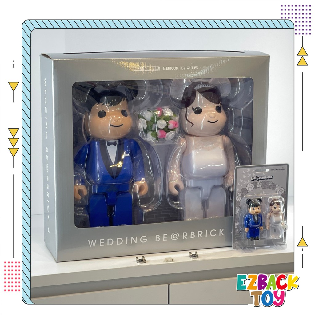 【Ezback 藝立倍】Be@rbrick 400% 結婚 4 PLUS 結婚熊