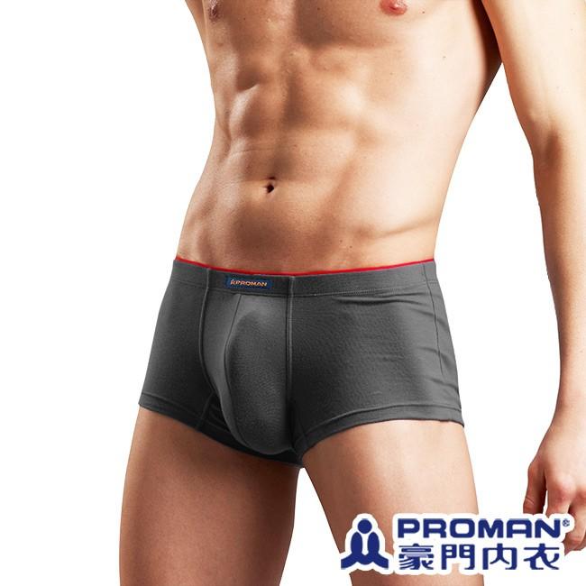 豪門PROMAN 男內褲 TV廣告款個性彈力四角褲 單件-深灰色-MS035