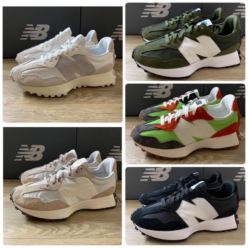 NEW BALANCE 327 NB327 休閒鞋 黑白 軍綠 白絲綢 奶茶色 MS327SFA WS327SFD