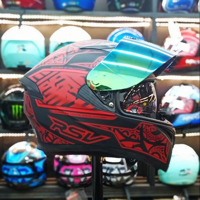 #➕送電鍍片 *世帽館安全帽* RSV ZINGER 彩繪99 消光黑紅 雙鏡片全罩式 輕量化 超透氣