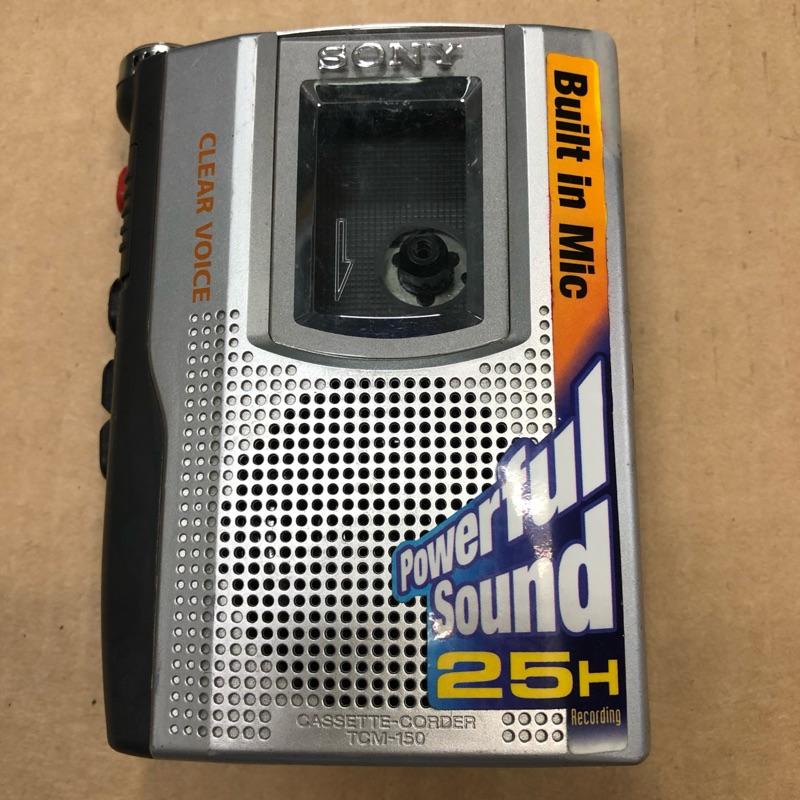 SONY 卡帶隨身聽 型號TCM-150 聲音優 稀有機種 功能正常