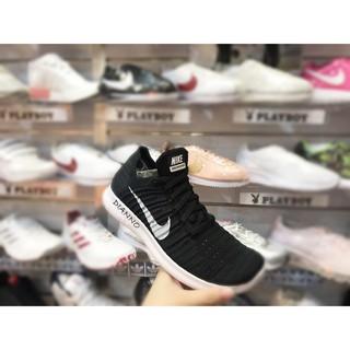 海外代購-Nike Wmns Free RN Flyknit 黑白 女 慢跑鞋 編織 輕量 831070-001