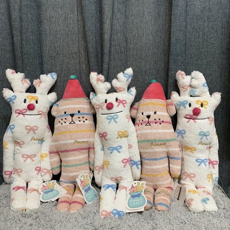 🎁Craftholic-聖誕節限定雀斑狗/麋鹿 禮物系列 宇宙人S號 小抱枕 L號 大抱枕 拖鞋