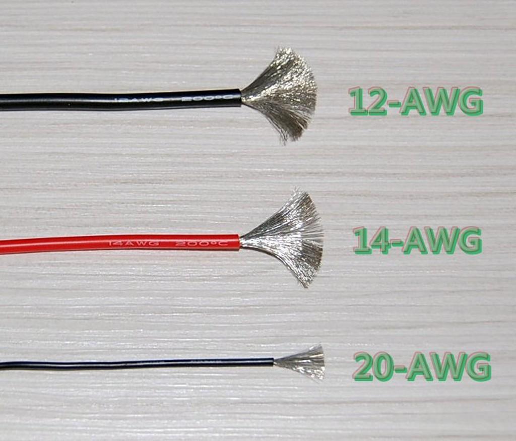 【鋰鐵鋰】10AWG/矽膠線/矽導線/長度100公分 多蕊耐高溫200高品質矽膠線