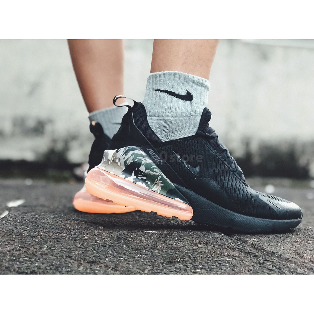 buy popular bdb35 121c6 【A-KAY0】NIKE AIR MAX 270 CAMO SUNSET 編織X網布 黑橘迷彩【AQ6239-001】