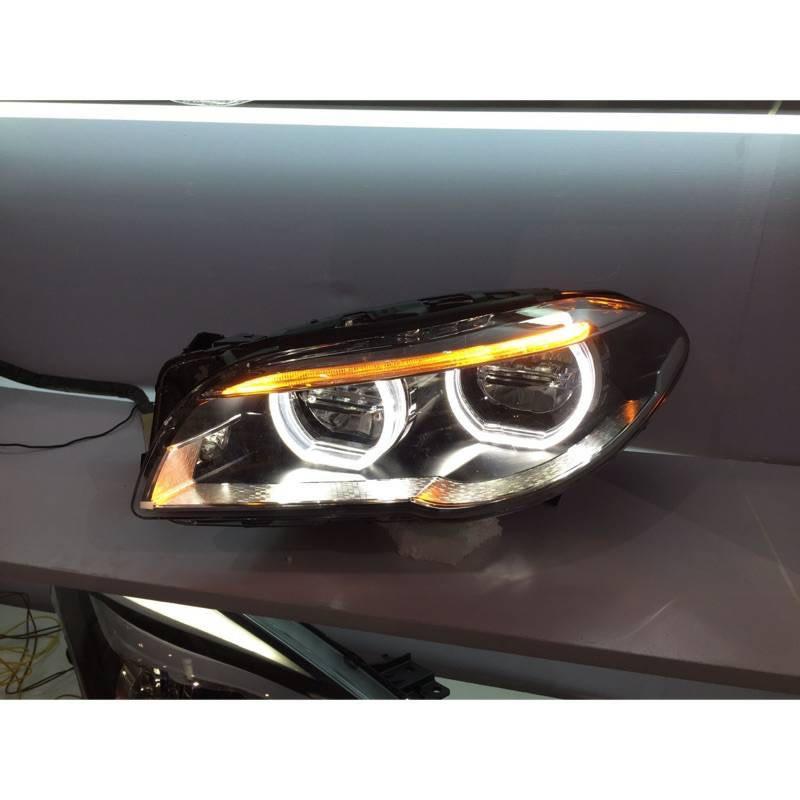 安鑫汽車精品 BMW F10 F11專用 全LED高配款大燈 無轉向可直上 品質穩定 亮度超好 另有前期改後期原廠大燈