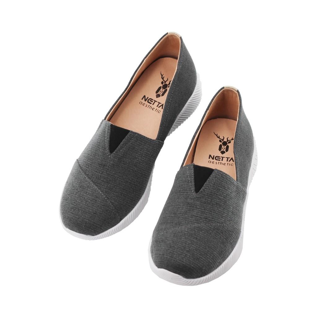 NETTA厚底舒適休閒鞋 黑色