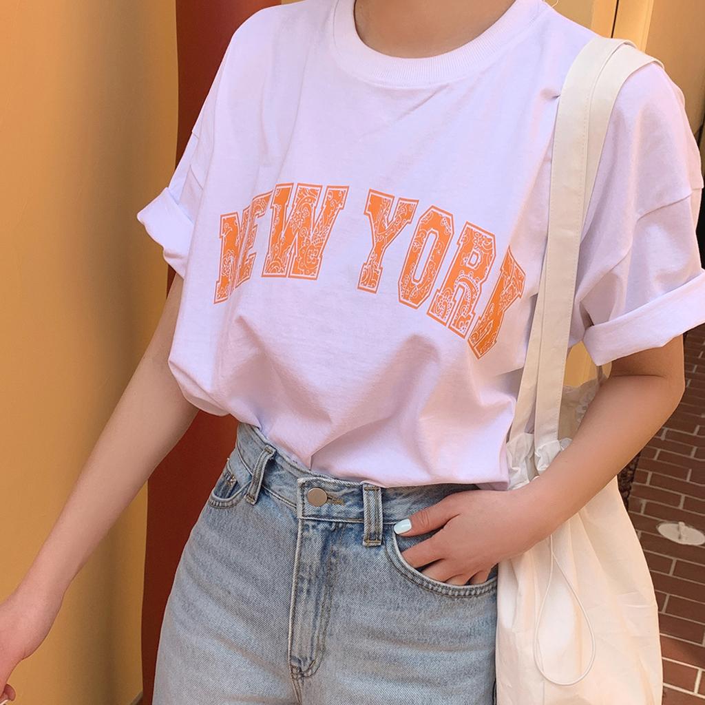 MOCOBLING自製 佩斯利紋印字短袖T恤 3色