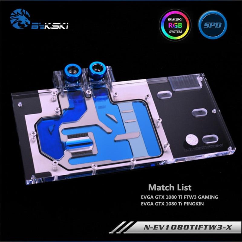 適用於 EVGA GTX 1080Ti FTW3 遊戲 / EVGA GTX 1080 Ti PINGKIN 的 Byk