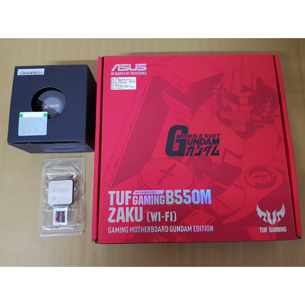 AMD R5 5600X 欣亞公司貨 全新散裝+ASUS華碩 GAMING TUF B550M ZAKU WIFI 鋼彈