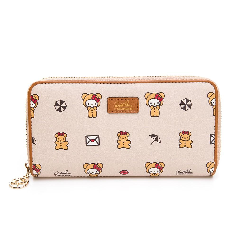 Hello Kitty聯名- ㄇ拉長夾 SPOIL / 熊愛你系列-咖色