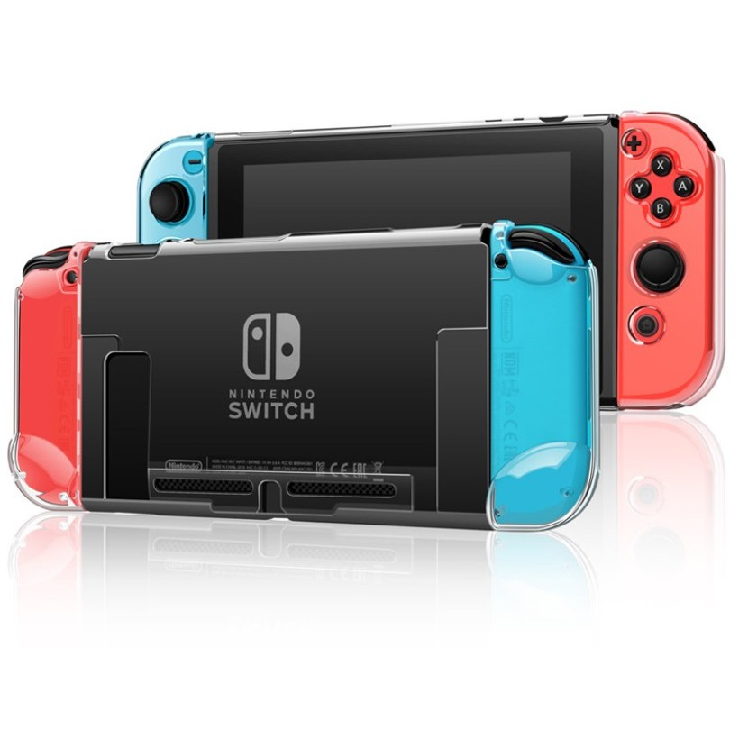 NS Switch 透明水晶殼 保護殼 硬殼 透明殼 水晶殼 適用於任天堂Switch主機 透明硬殼【就是要玩】